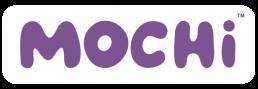 Mochi logo inverted colors.
